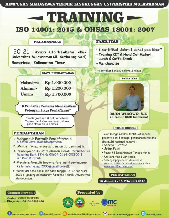 Training ISO Mahasiswa